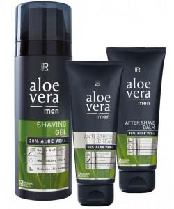 Aloe Vera Набор 2 для мужчин: гель для бритья + бальзам после бритья + крем-антистресс